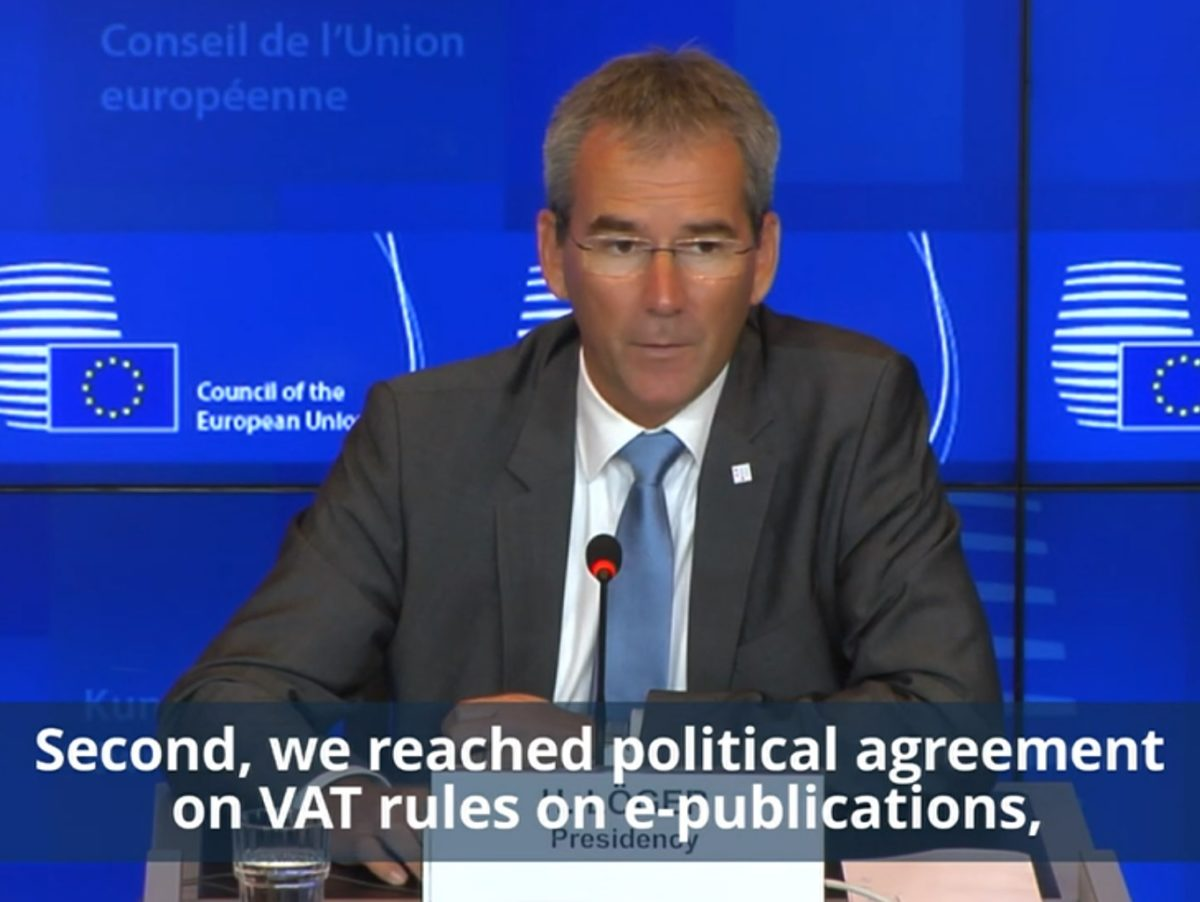 EU finance ministers back VAT reduction for electronic publications which NMA says will save news industry 'millions'