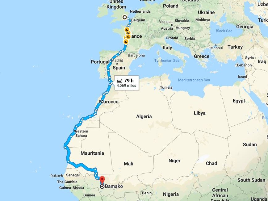 Journalist's bid to drive 4,000-mile journey to Mali for charity after open-heart surgery