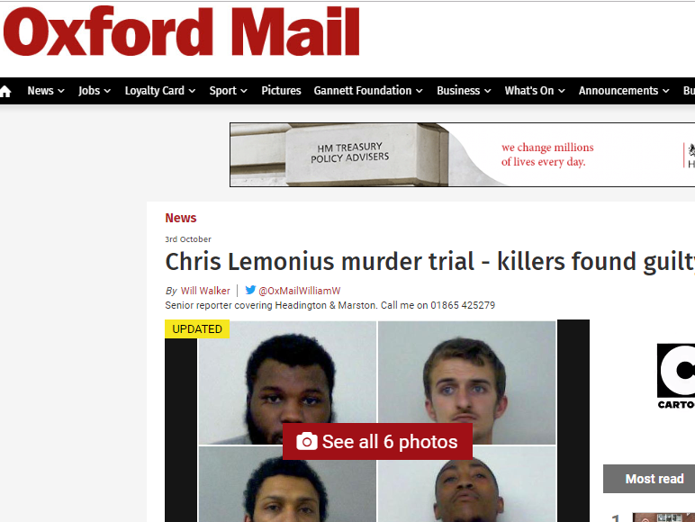Oxford Mail journalist wins legal challenge to name teenager who tried to hide evidence at murder scene