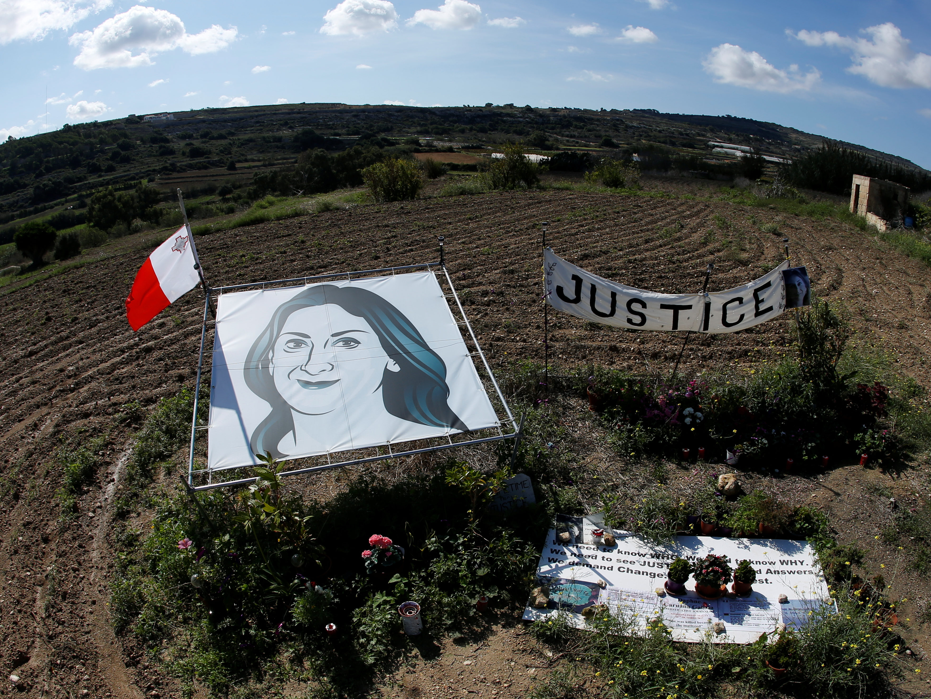 Press freedom groups travel to Malta to call for inquiry into killing of journalist Daphne Caruana Galizia one year on since her murder