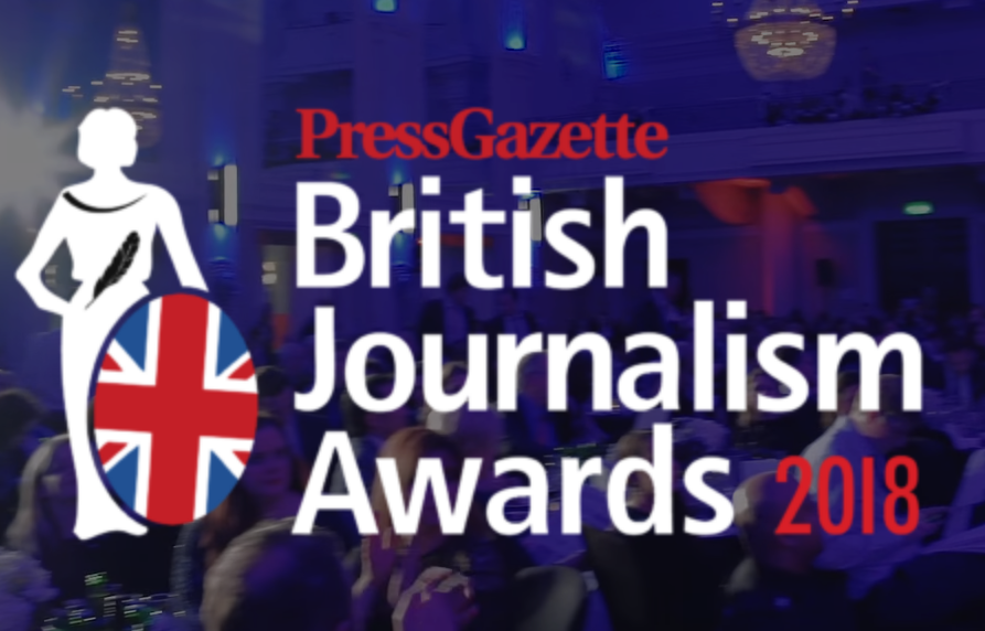 British Journalism Awards 2018 News Provider of the Year shortlist revealed