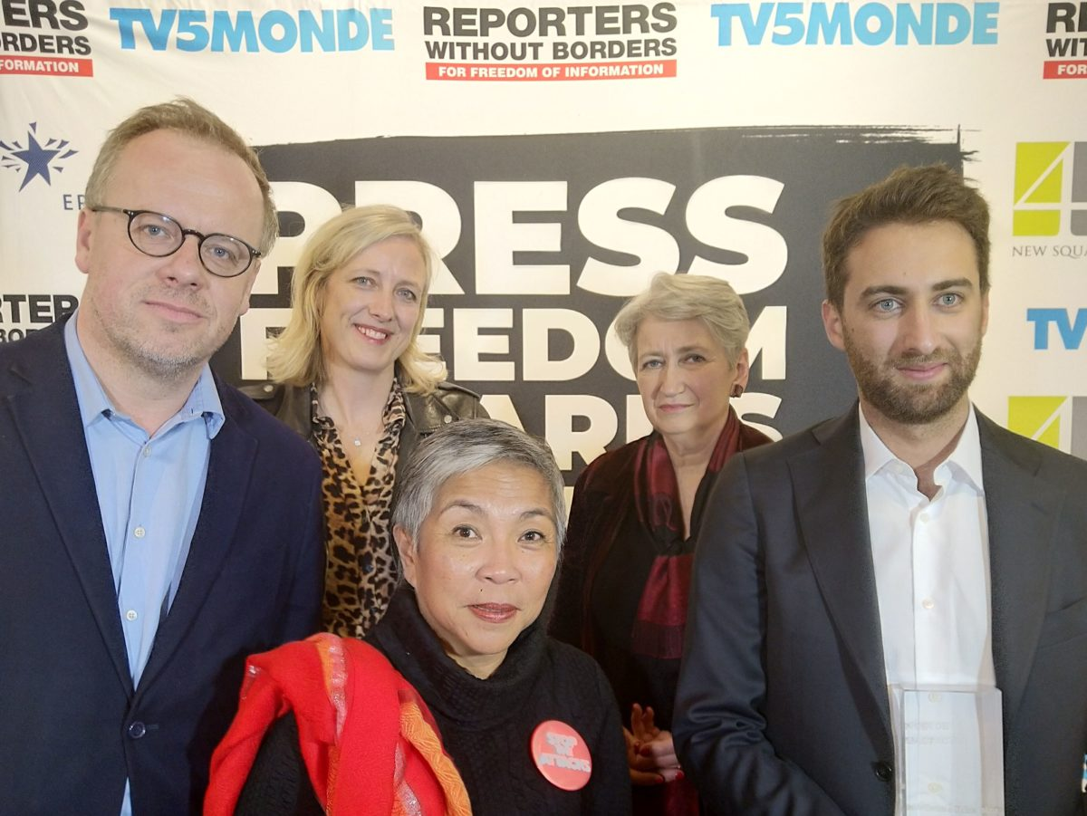 Observer's Carole Cadwalladr warns of daily 'war on truth' on social media platforms as she collects press freedom prize