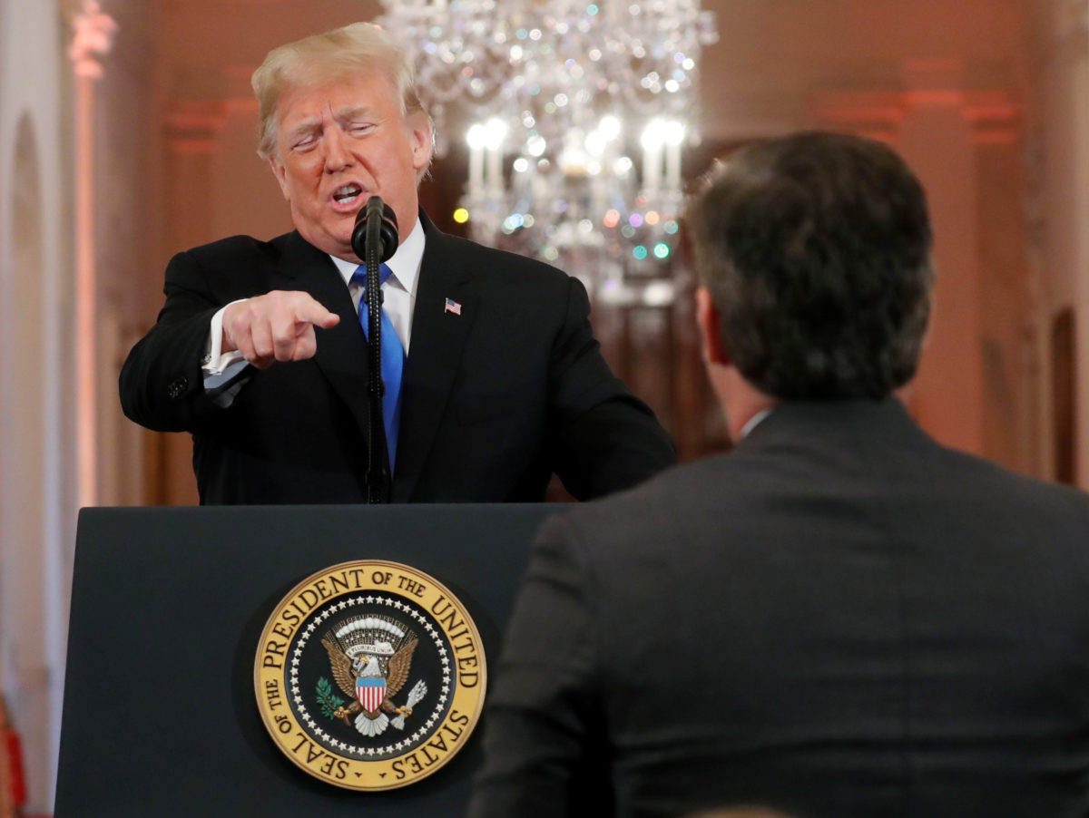 CNN sues Donald Trump over White House decision to revoke correspondent Jim Acosta's press pass