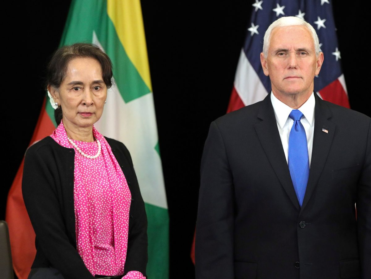 US Vice President Mike Pence urges Myanmar leader Aung San Suu Kyi to pardon jailed Reuters reporters