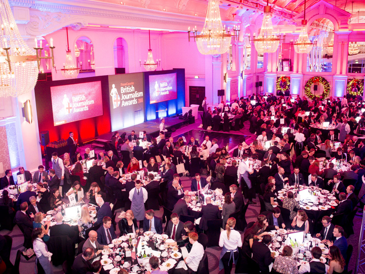British Journalism Awards 2019: Open for entries from 1 August