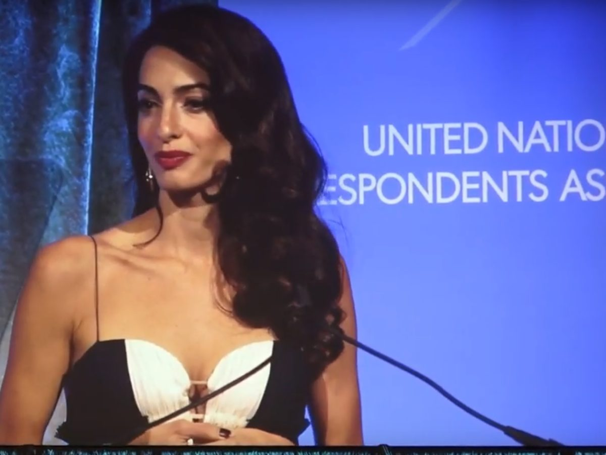 Amal Clooney warns press 'under attack like never before' and singles out Trump for giving 'green light' to autocratic regimes