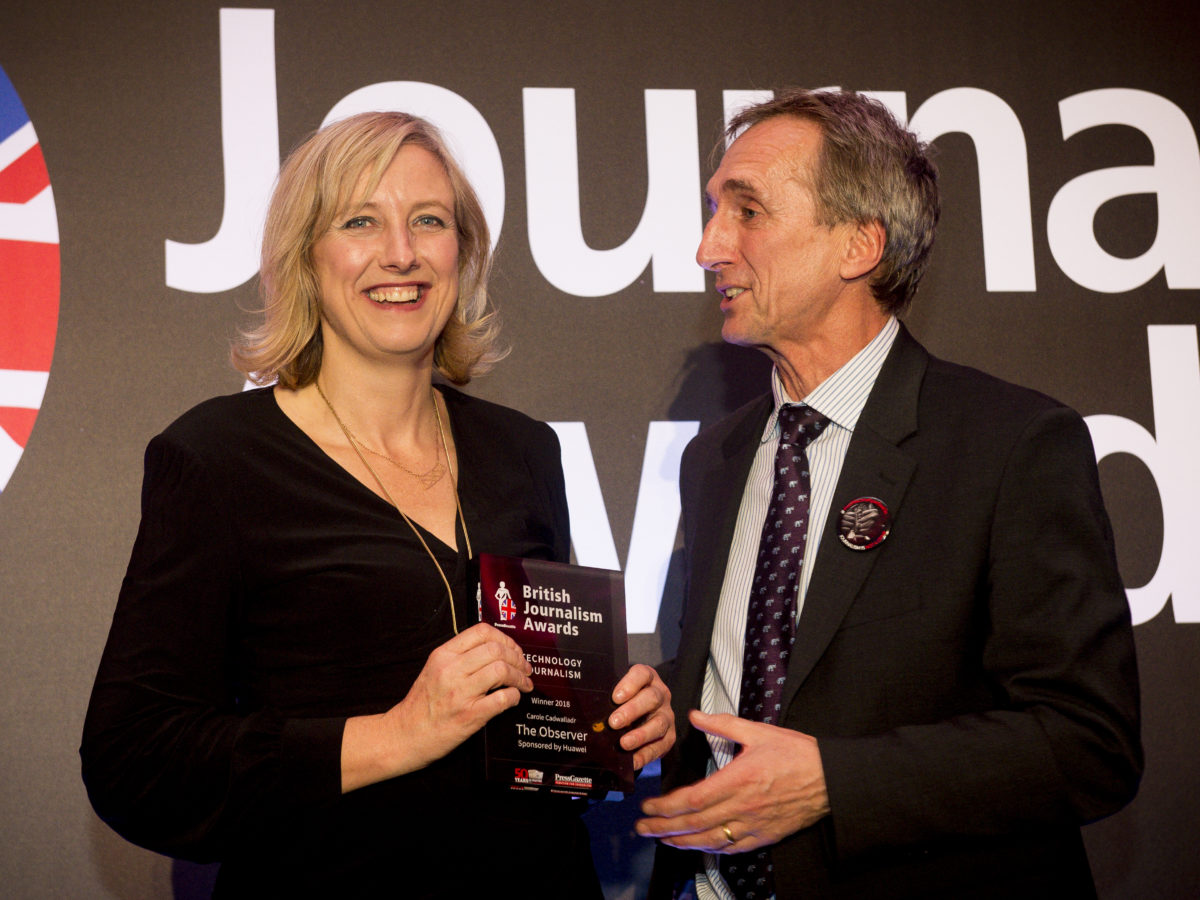 Observer's Carole Cadwalladr: Award wins are 'important piece of armour' against critics who attack me and my reporting