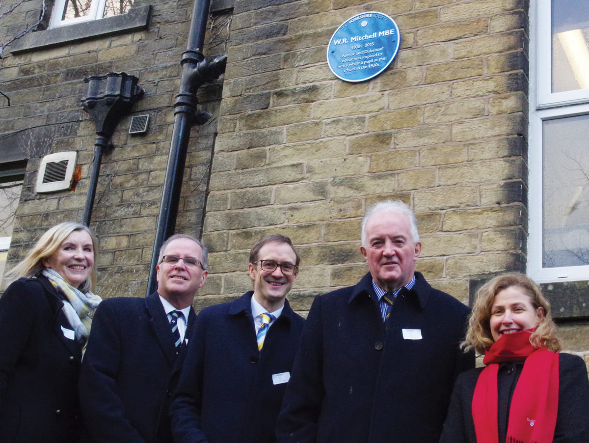 BBC's Chris Mason unveils blue plaque for 'incredible' Yorkshire journalist W. R. Mitchell