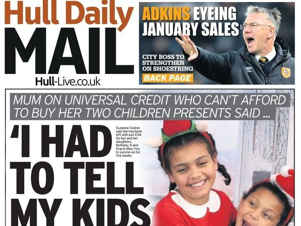 Hull Daily Mail defends splash headline about mum telling children Santa 'not real' after outrage from parents
