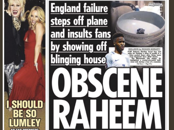 Sun says claims its off-field coverage of footballer Raheem Sterling is racist are 'ridiculous and offensive'