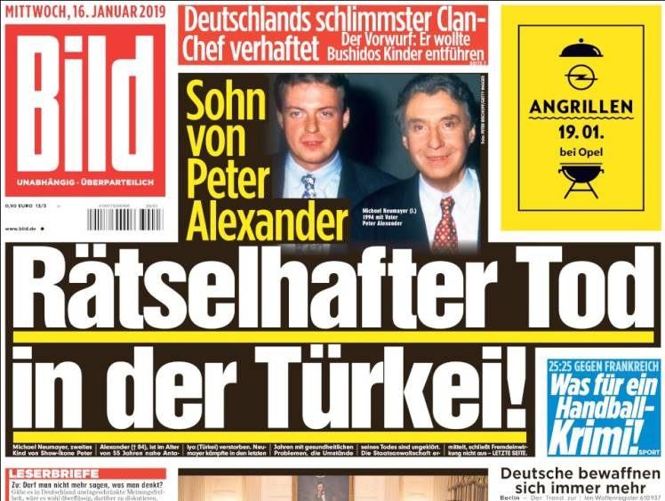 German daily Bild loses bid to overturn order banning republication of photo showing Swiss journalist in prison