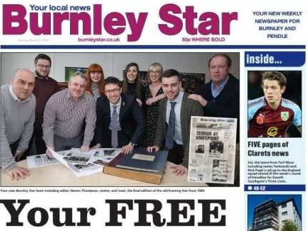 Newsquest closes free weekly Burnley Star less than a year after launch