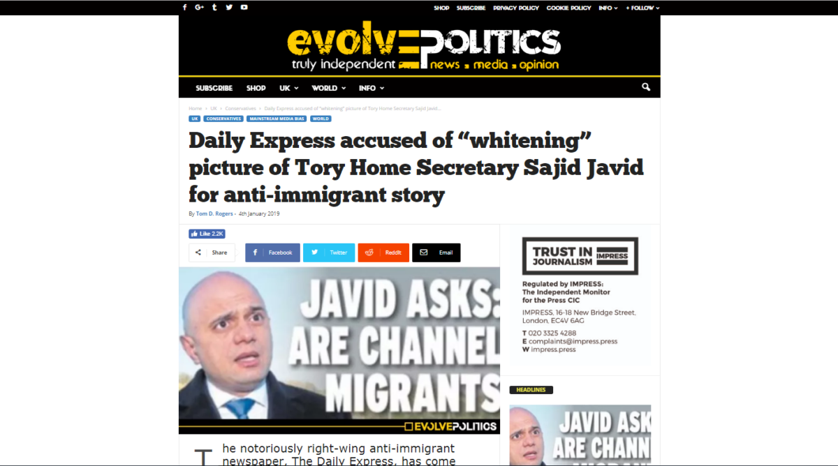 Daily Express complains to regulator after Evolve Politics dubbed it an 'anti-immigrant' newspaper