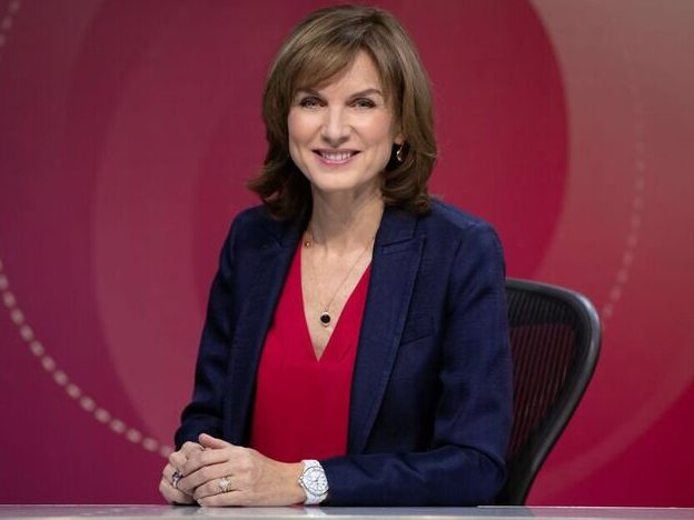Question Time's Fiona Bruce was briefed on Laurence Fox but says show is 'unpredictable'