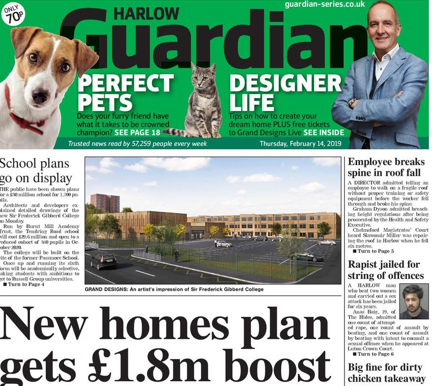 Newsquest launches paid-for Harlow Guardian edition to fill void left by closure of Reach's free Harlow Star