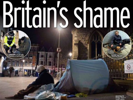 Daily Mirror sends journalists out across Britain to report on homelessness for Mirror on the Street campaign