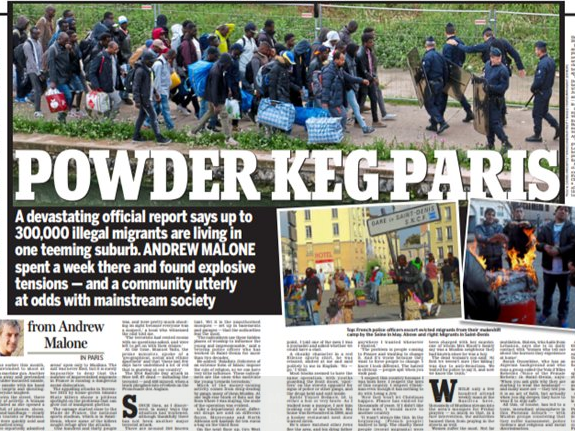 IPSO rules against Daily Mail over multiple inaccuracies in report claiming 300,000 illegal migrants lived in one French suburb