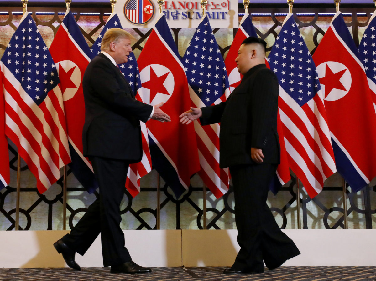 Reporters barred from President Trump and Kim Jong-Un dinner over 'sensitivities' about 'shouted questions'