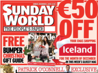 Sunday World front page