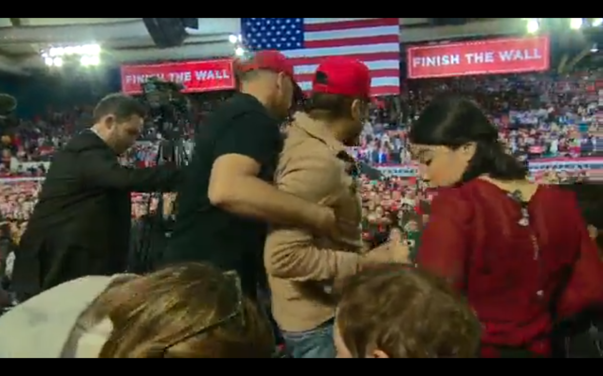 BBC cameraman shoved at Trump rally after US President 'whipped' crowd into anti-media frenzy