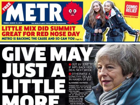 Metro prints Comic Relief special with pledge to donate portion of ad revenue to charity