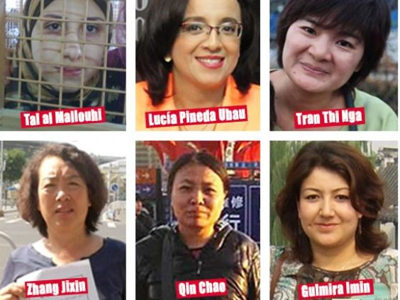 Press freedom groups use International Women's Day to highlight plight of jailed female journalists
