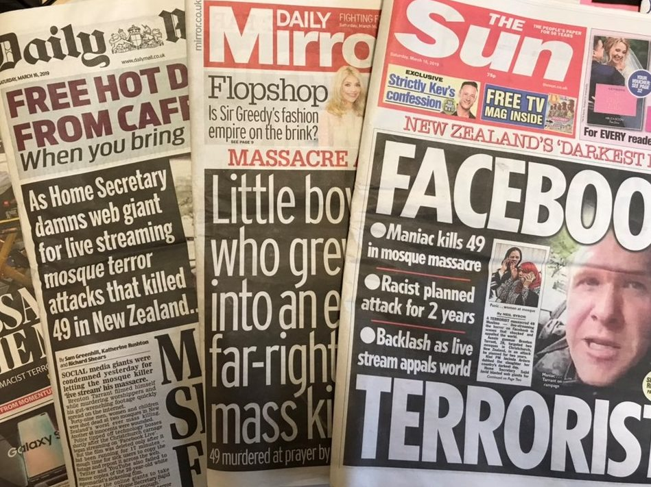 Anger at tabloid coverage of the Christchurch mosque massacre is misplaced