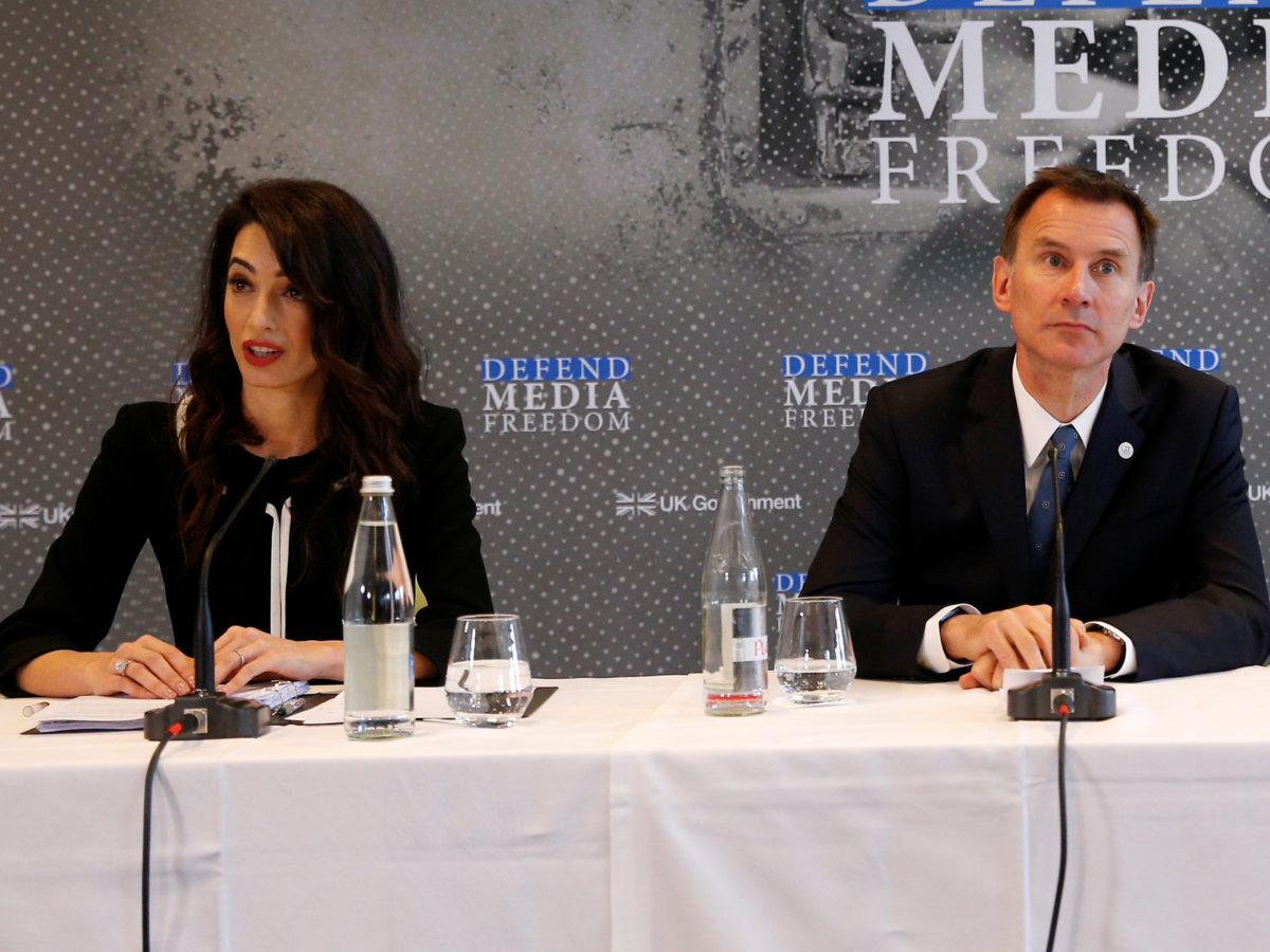Amal Clooney to attend two-day media freedom conference in London hosted by UK and Canada