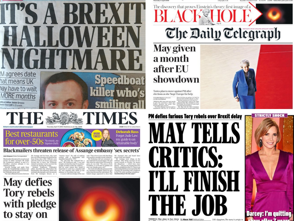 'It's a Brexit Halloween nightmare': Newspapers react to new Brexit delay