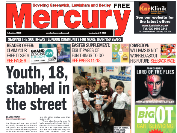 Greenwich Mercury loses dedicated print title in merger with South London Press