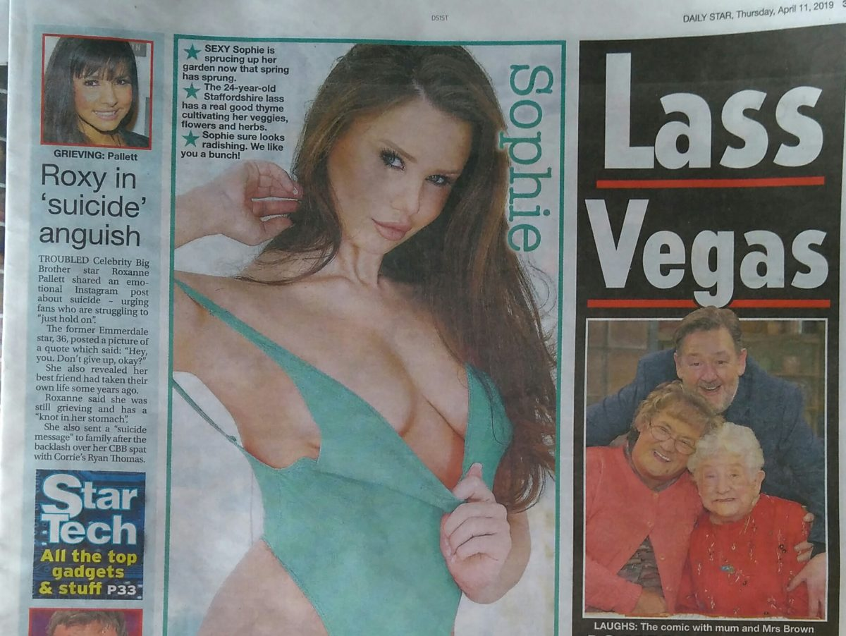 Fleet Street cover-up: Daily Star cans topless page three models
