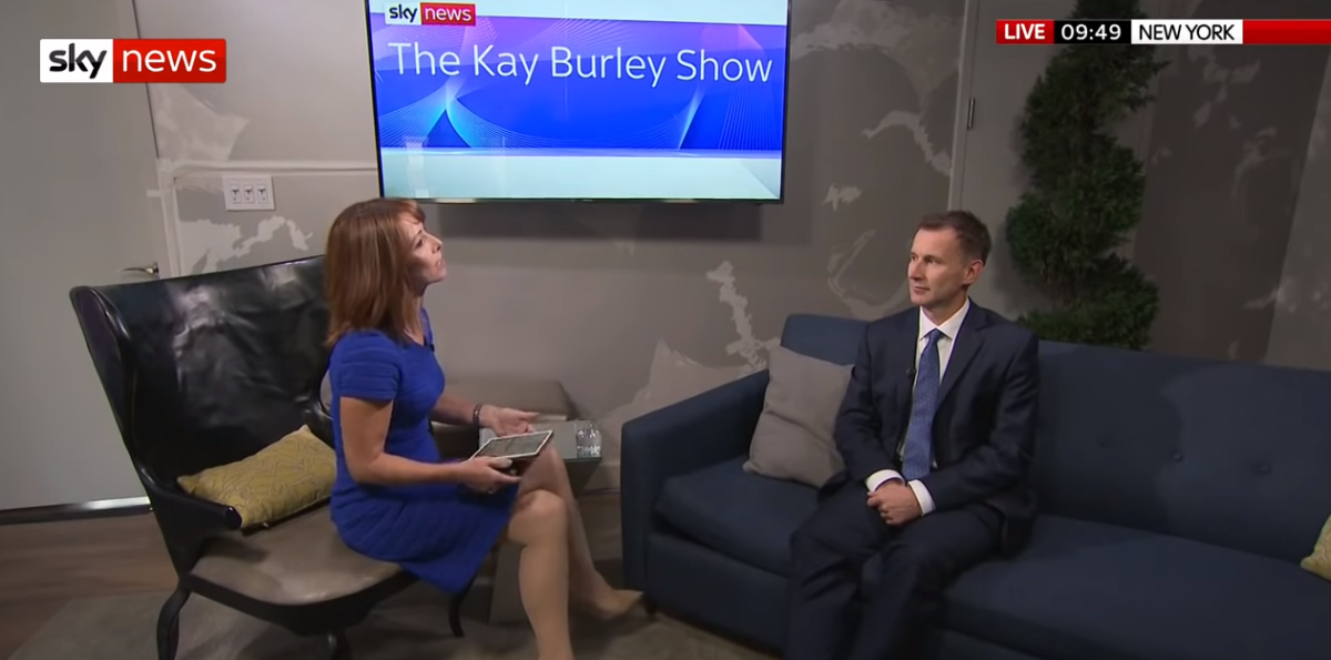 Kay Burley snubs Jeremy Hunt bid to make her chief spinner should he land PM job, report claims