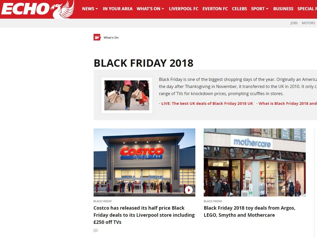 Liverpool Echo failed to make marketing deal clear in Black Friday