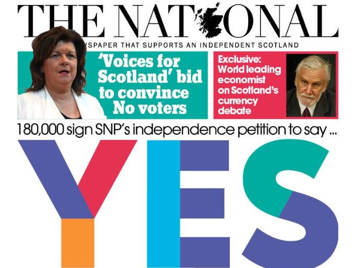 Scottish daily The National grows subscribers after campaign launch backing new indy ref
