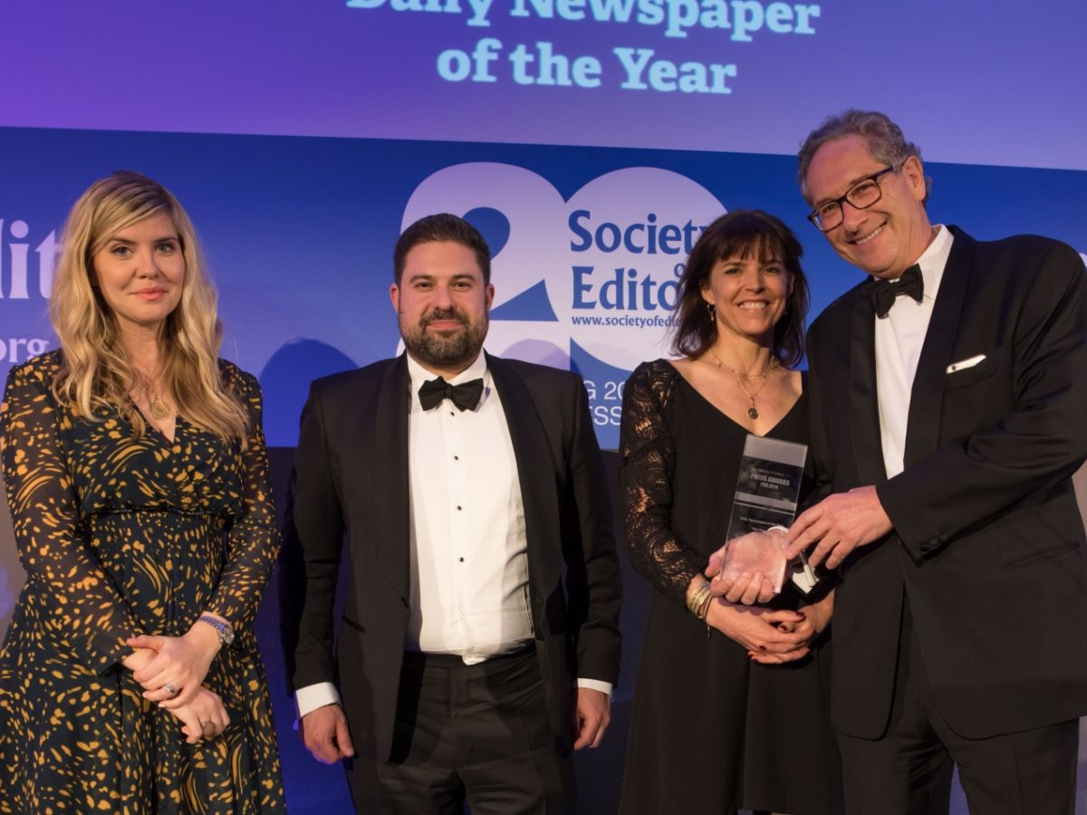 Times titles win big at Society of Editors' Press Awards