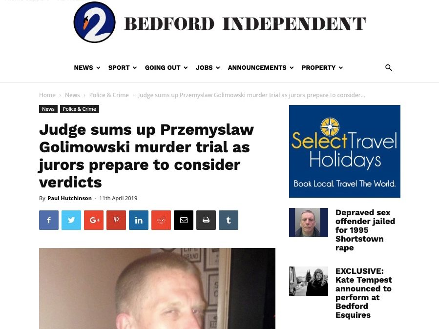 Police probe death threats to news website staff over report on killers' guilty verdict