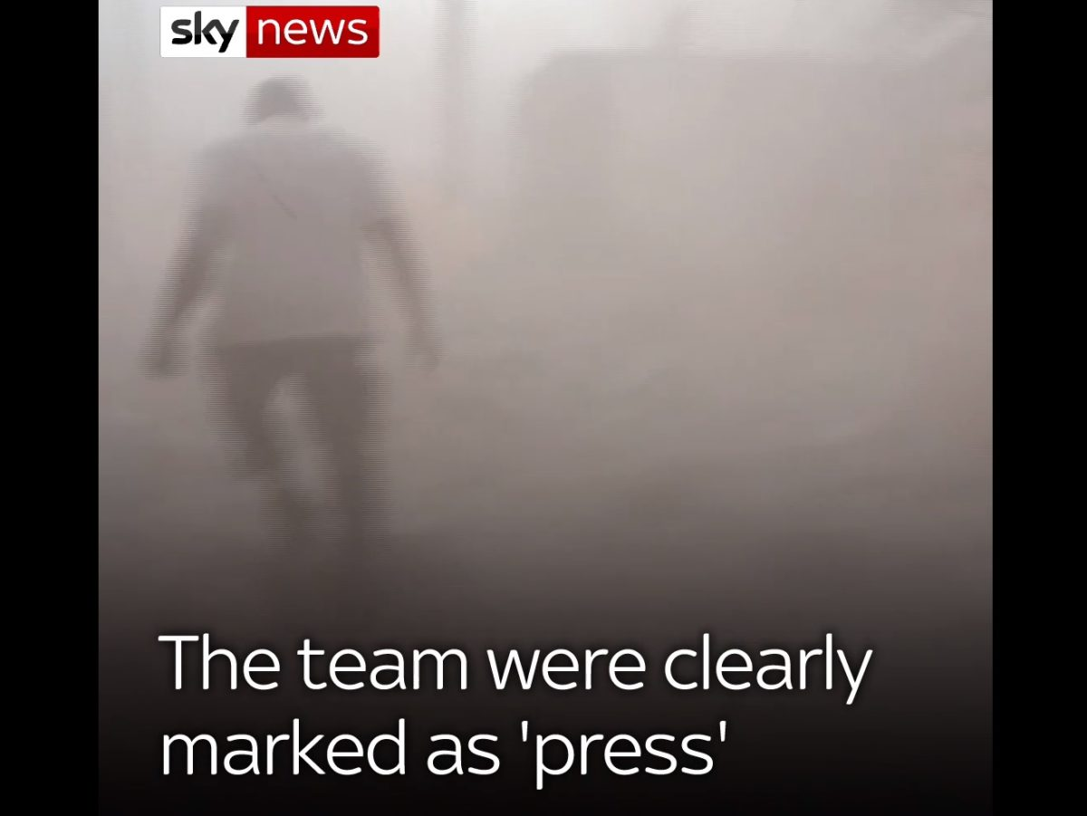 Sky News journalists 'deliberately targeted and attacked' while reporting from Syria
