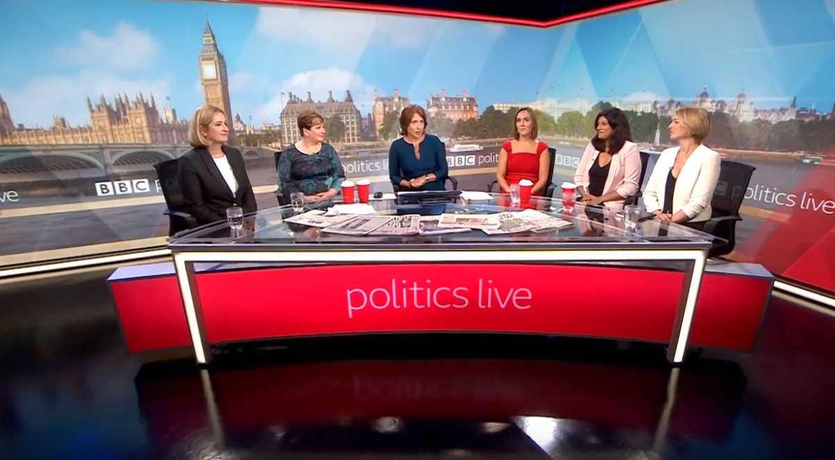 Marr and Politics Live among BBC news programmes to hit 50:50 on-air gender split