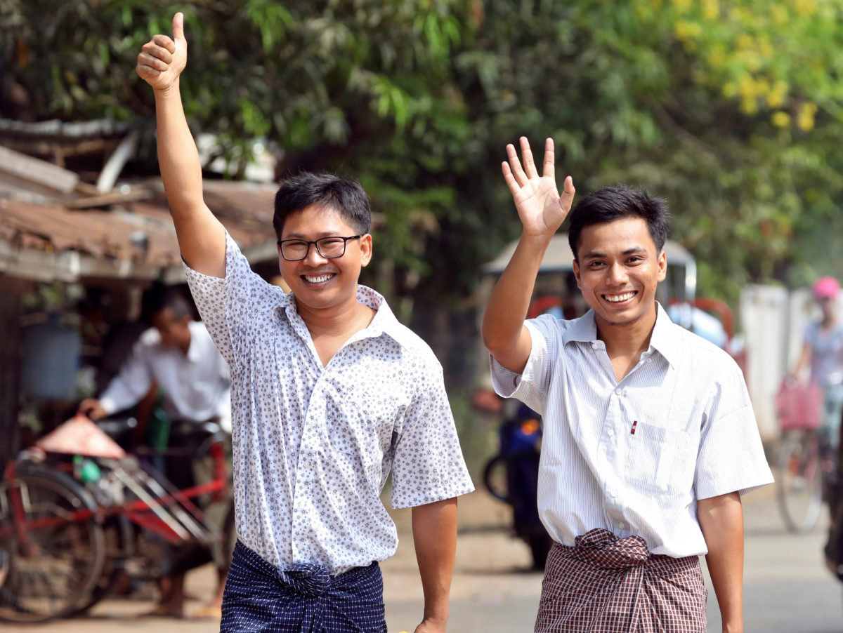 Jailed Reuters pair freed by presidential pardon after 500 days behind bars in Myanmar