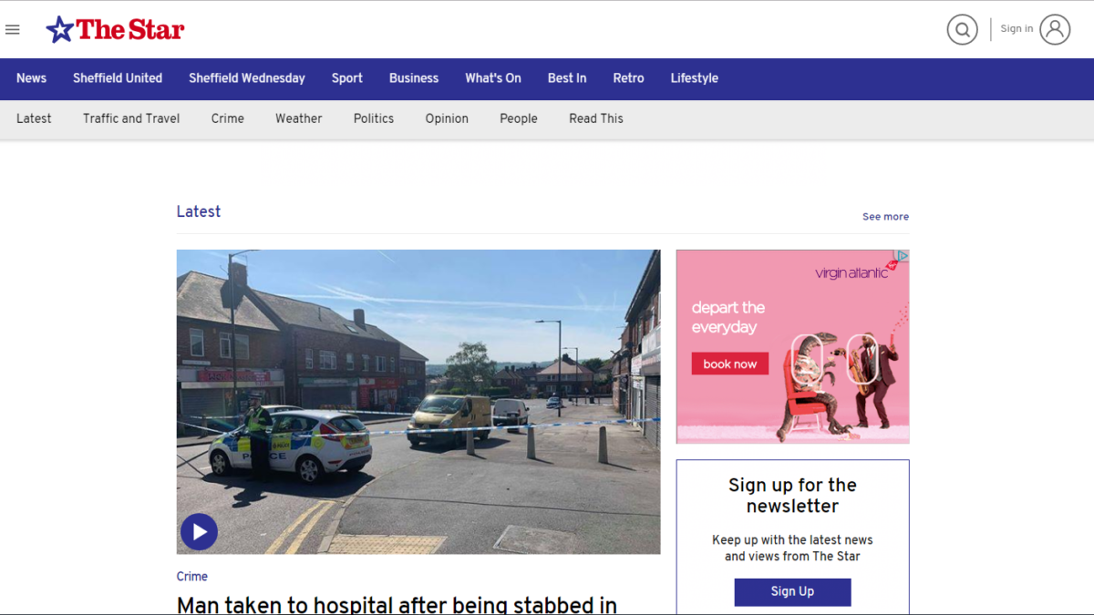 Sheffield Star handed first new-look website in JPI Media digital revamp