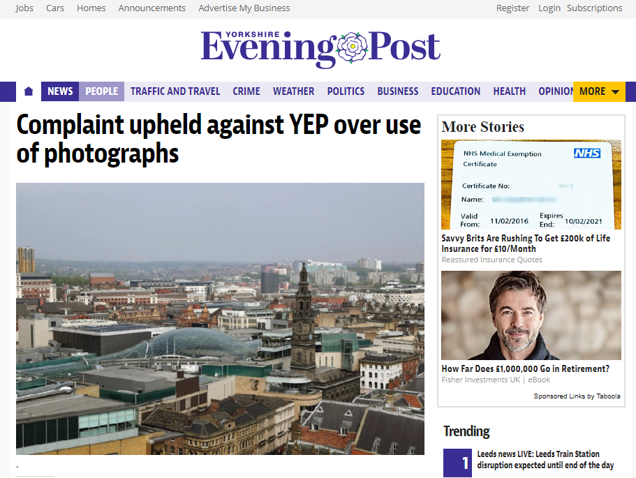 Yorkshire Evening Post needed father's consent to publish images of cancer mother's children, IPSO rules