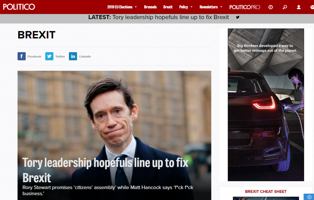 Politico Europe grows UK team ahead of expected 'surge in demand' post Brexit
