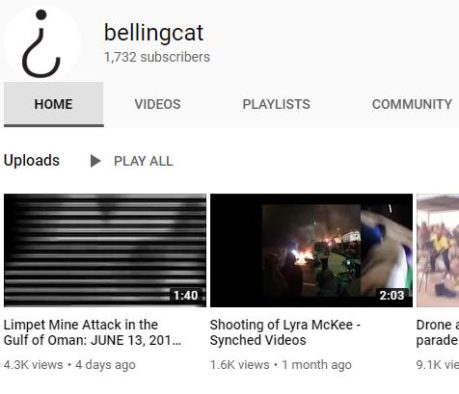 Youtube downs Bellingcat channel for four hours without warning