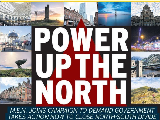 Northern dailies unite in front-page call for Westminster politicians to 'power up the north'