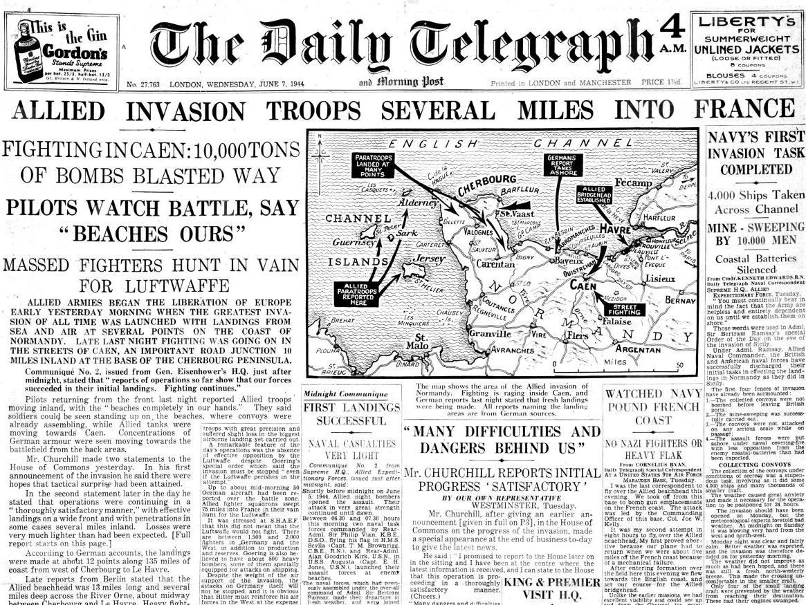 D-Day: How the papers covered landmark World War Two operation in 1944 vs 2019