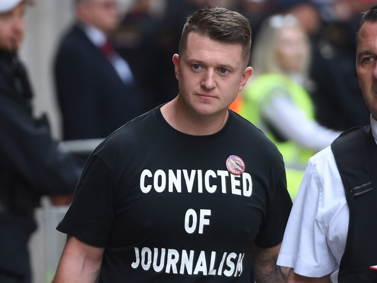 Tommy Robinson sentenced to nine months behind bars for contempt of court