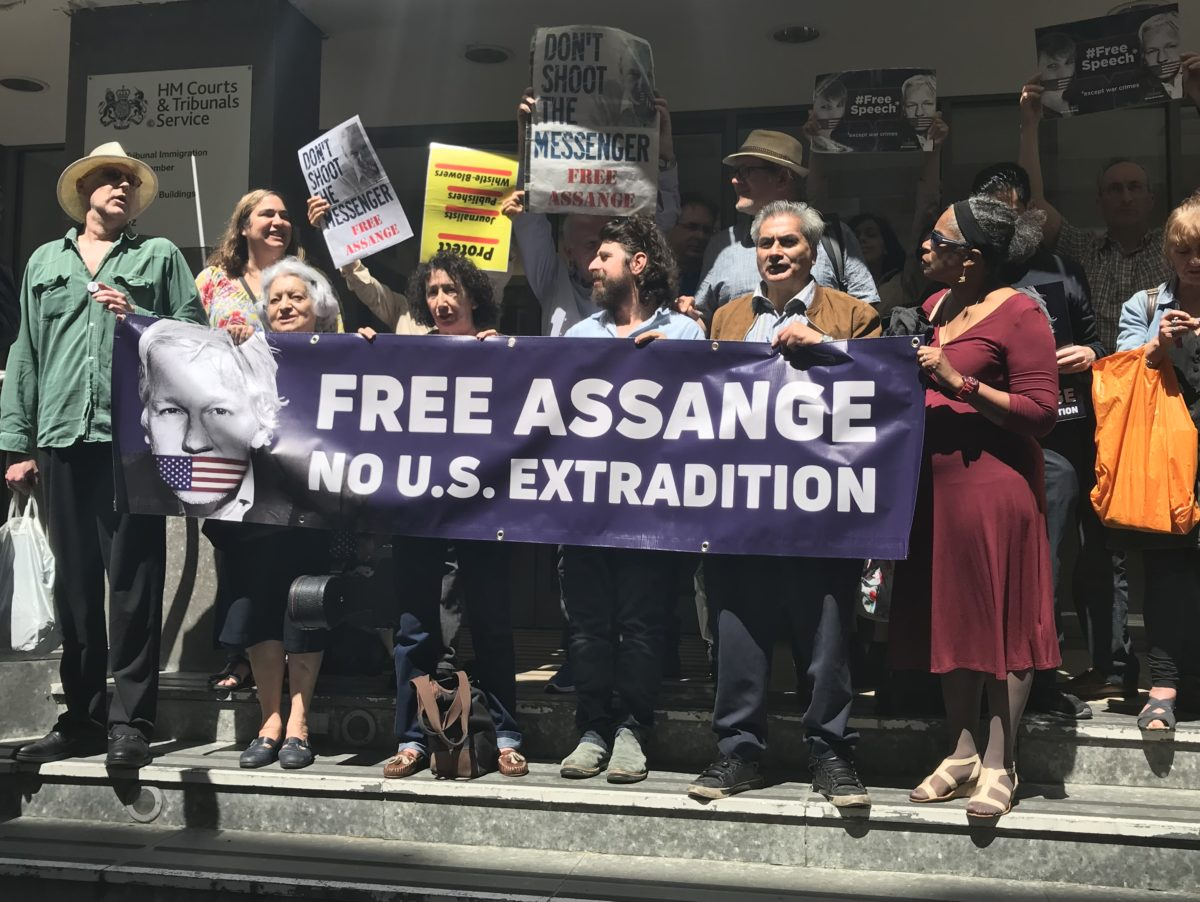 Italian journalist takes four-year FOI battle for Assange extradition files to UK tribunal