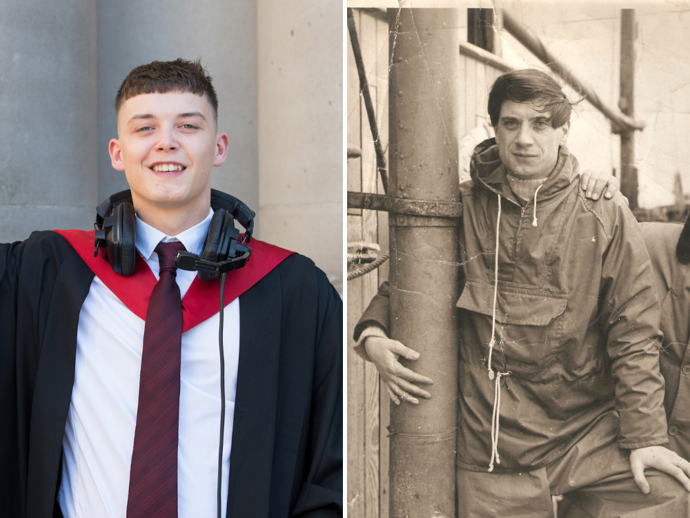 Young journalist graduates from university course set up by his ex-features writer grandfather