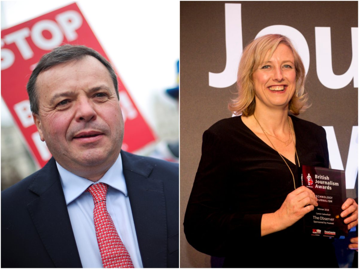 Carole Cadwalladr drops truth defence in Arron Banks libel battle but insists claims were in public interest