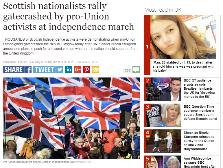 Express IPSO Scottish independence